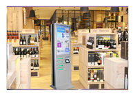 Lcd Multi Function Emergency Mobile Phone Charging Kiosk , Phone Charger Station With Lockers