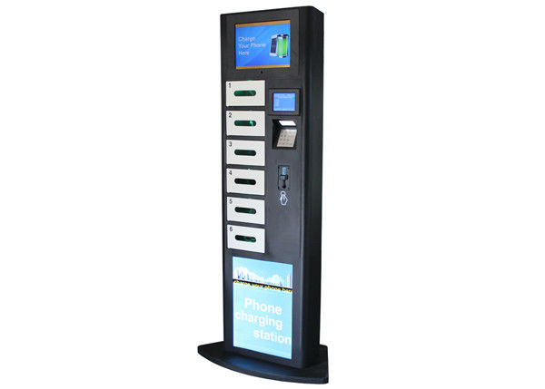 Lcd Advertising Cell Phone Charging Station Charging