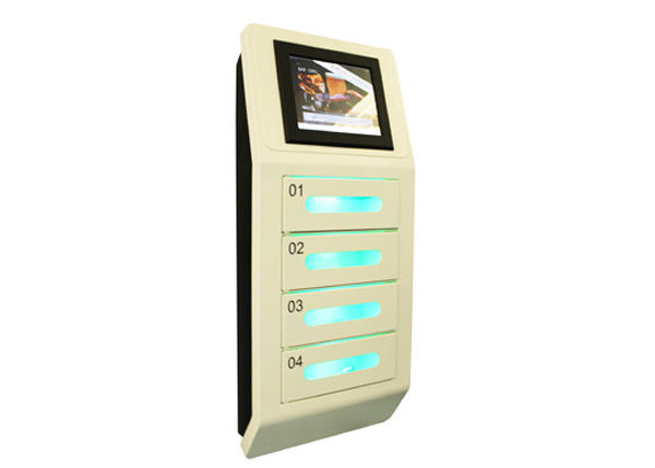 china 4 digital lockers cell phone charging station 10 inch touch screen wall mount distributor