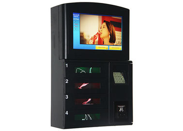 Wall Mount Coin Bill Card Operated Cell Phone Station , Secured Lockers Phone Charging Station Kiosk