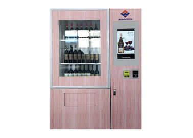 Smart Beer Wine Vending Machine With Advertising LCD And Coin /Bill / Credit Card Reader